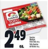 Sunrise Medium Firm Tofu 454 g