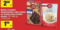 Betty Crocker Supermoist Cake Mixes Or Snack Size Cookie Mixes - 177-461 g