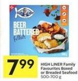 High Liner Family Favourites Boxed or Breaded Seafood 500-700 g