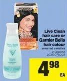 Live Clean Hair Care Or Garnier Belle Hair Colour
