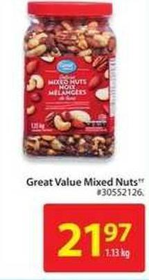 Great Value Mixed Nuts