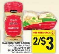 Oakrun Farm Bakery English Muffins - Crumpets Or Selection Bagels