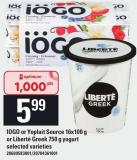 IOGO Or Yoplait Source 16x100 G Or Liberté Greek 750 G Yogurt