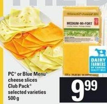 PC Or Blue Menu Cheese Slices Club Pack.500 g
