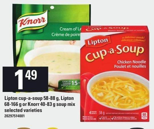 Lipton Cup-a-soup 58-88 G - Lipton 68-166 G Or Knorr 40-83 G Soup Mix