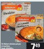 St-hubert Chicken Pot Pie Or Tourtière Fresh - 610/645 g