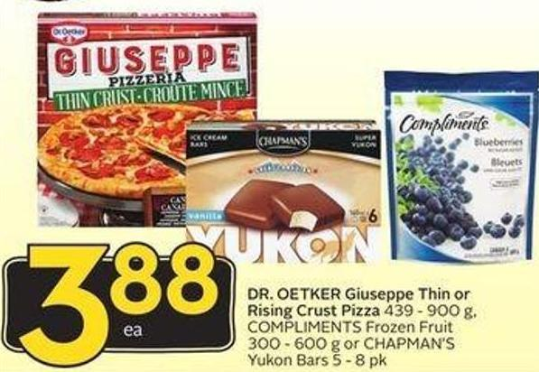 Dr. Oetker Giuseppe Thin or Rising Crust Pizza