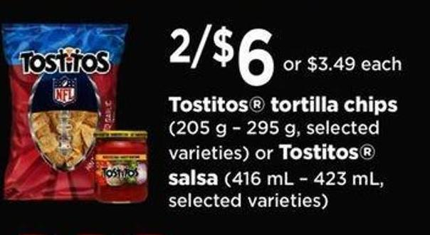 Tostitos Tortilla Chips - 205 G – 295 G - Or Tostitos Salsa - 416 Ml – 423 Ml