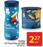 Gerber Lil' Crunchies or Puffs