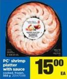PC Shrimp Platter With Sauce - 568 g