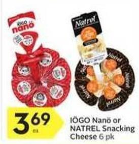 Iögo Nanö or Natrel Snacking Cheese