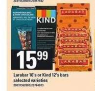Larabar 16's Or Kind 12's Bars
