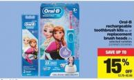 Oral-b Rechargeable Toothbrush Kits Or Replacement Brush Heads - 2's