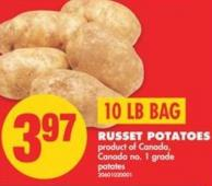 Russet Potatoes - 10 Lb Bag
