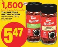 Tim Hortons Instant Coffee - 100 g
