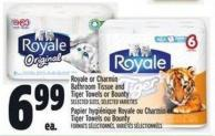 Royale Or Charmin Bathroom Tissue And Tiger Towels Or Bounty | Papier Hygiénique Royale Ou Charmin Et Tiger Towels Ou Bounty