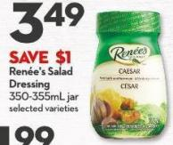 Renée's Salad  Dressing 350-355ml Jar