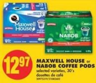 Maxwell House Or Nabob Coffee Pods.30's