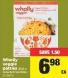 Wholly Veggie Patties - 300 g