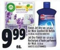 Finish Jet Dry 500 - 621 Ml Or Air Wick Scented Oil Refills 2 X 20 ml