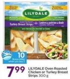 Lilydale Oven Roasted Chicken or Turkey Breast Strips 300 g - 10 Air Miles Bonus Miles