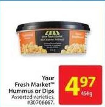 Your Fresh Market Hummus or Dips