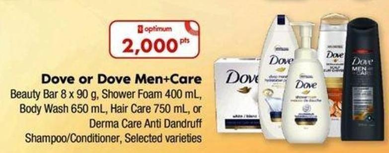 Dove Or Dove Men+care Beauty Bar - 8 X 90 G Shower Foam - 400 Ml Body Wash - 650 Ml Hair Care - 750 Ml Or Derma Care Anti Dandruff Shampoo/conditioner