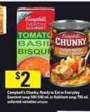 Campbell's Chunky - Ready To Eat Or Everyday Gourmet Soup - 500- 540 Ml Or Habitant Soup - 796 Ml