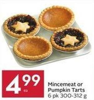 Mincemeat or Pumpkin Tarts