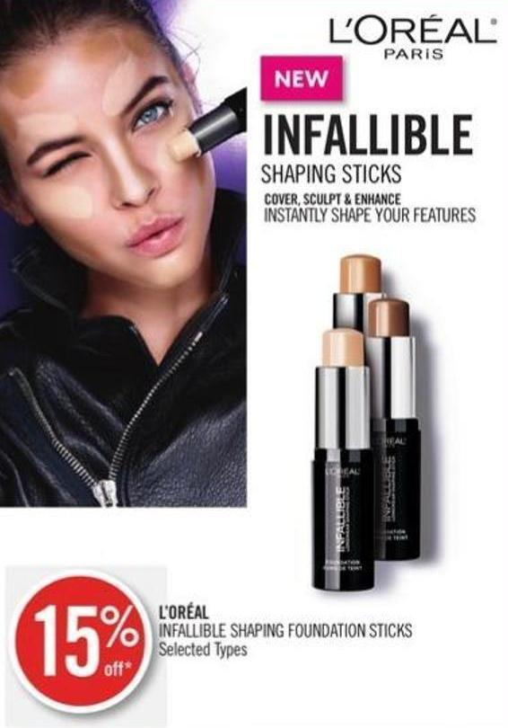 L'oréal Infallible Shaping Foundation Sticks