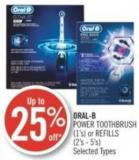 Oral-b Power Toothbrush (1's) or Refills (2's - 5's)