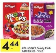 Kellogg's Family Pack Cereals 515-765 g