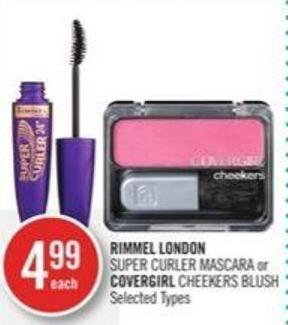 Rimmel London Super Curler Mascara or Covergirl Cheekers Blush