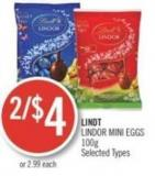 Lindt Lindor Mini Eggs 100 g