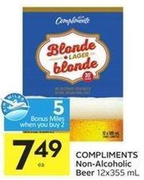 Compliments Non-alcoholic Beer 12x355 mL - 5 Air Miles Bonus Miles