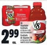V8 Vegetable Cocktails 6 X 156 ml or 1.89 L
