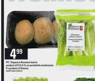 PC Organics Romaine Hearts - 3's Or Portobello Mushrooms - 4's