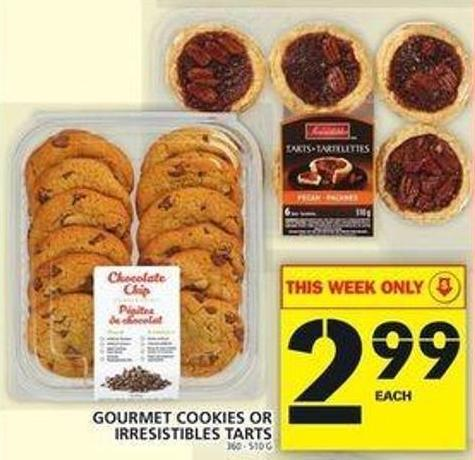 Gourmet Cookies Or Irresistibles Tarts