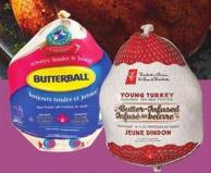 PC Butter-infused Or Butterball Frozen Turkeys - 5-7 Kg