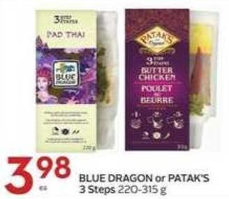 Blue Dragon or Patak's 3 Steps