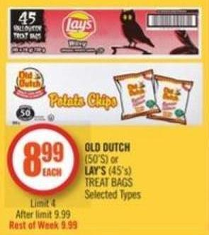 Old Dutch (50's) or Lay's (45's) Treat Bags