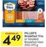 Piller's Breakfast Trio or Smoked Breakfast Ham 250-375 g
