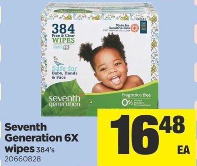 Seventh Generation 6x Wipes - 384's