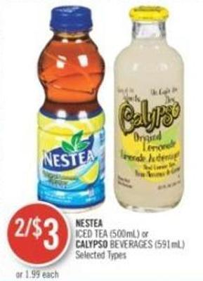 Nestea Iced Tea (500ml) or Calypso Beverages (591ml)