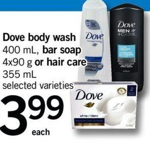 Dove Body Wash - 400 Ml - Bar Soap - 4x90 G Or Hair Care - 355 Ml