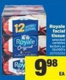 20705292 Royale Facial Tissue - 6x154's or 12x100's