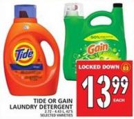Tide Or Gain Laundry Detergent