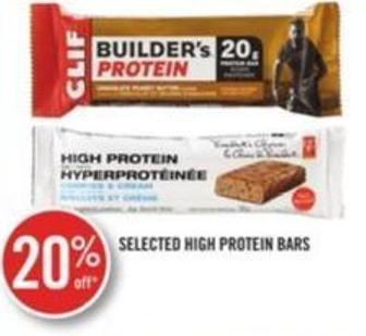 Selected High Protein Bars