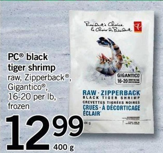 PC Black Tiger Shrimp - 400 G