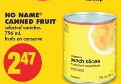 No Name Canned Fruit - 796 Ml